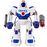 星际卫士 智能遥控对话机器人大胖跳舞机械战警儿童电机器人 蓝白