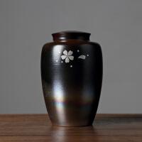 景德镇茶叶罐陶瓷罐子密封储物罐瓷罐家用带盖绿茶普洱茶罐