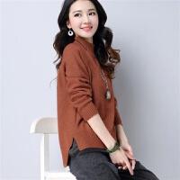 毛衣女打底衫短款套头长袖上衣女秋冬装韩版宽松半高领毛线衣