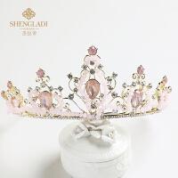 儿童皇冠头饰粉色水钻发箍公主发饰女孩生日礼物