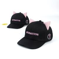 儿童棒球帽可爱韩版猫咪小耳朵休闲帽宝宝鸭舌帽