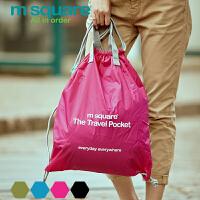 旅行双肩背包女轻便大容量休闲旅游抽绳束口包袋
