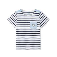 【清仓价:25】巴拉巴拉旗下MarColor马卡乐2019夏新品男童卡通条纹短袖T恤