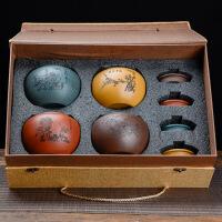 宜兴原矿紫砂茶叶罐小号普洱茶盒手工茶具密封存储物罐