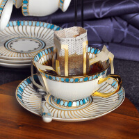 宝石系列英式下午茶茶具套装创意骨瓷杯子陶瓷红茶茶杯欧式咖啡杯 蓝宝石