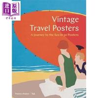 【中商原版】Vintage Travel Posters 英文原版 复古旅行海报:30张海上旅程海报