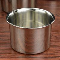 带盖奶茶店餐饮不锈钢调料罐味盅调料盆调味缸打蛋盆调料器皿