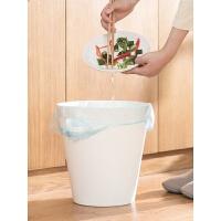【教师节礼物】茶花 手提式垃圾袋 家用厨房卫生间加厚点断式一次性塑料袋背心式 【120只套装】手提垃圾袋(45*50c