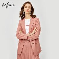 伊芙丽西装外套女新款韩版法式小外套英伦风女士网红西服女