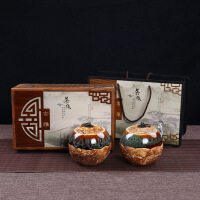 新款礼盒包装陶瓷茶叶罐通用半斤红茶密封罐金骏眉空盒定制