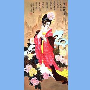 福建省美术家协会会员,福建省油画行业理事长林宝章(贵妃醉酒)