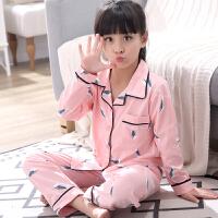 女童睡衣长袖春秋夏季薄款可爱中大童公主宝宝家居服套装