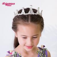 皇冠头饰儿童公主发饰女孩头饰女童王冠发箍花童表演宝宝生日饰品
