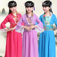 六一儿童演出服装小孩中国风七仙女服表演服复古汉服宝宝古装服装