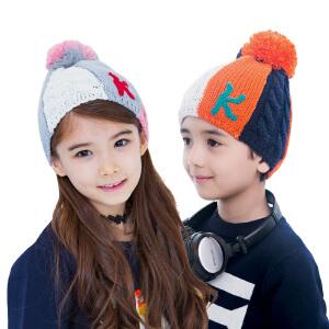 韩国kk树男女宝宝帽子秋冬6-12个月新生儿帽子护耳套头帽1-2岁潮