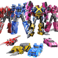 迷你特工队X玩具变形机器人金刚弗特x塞米儿童全套