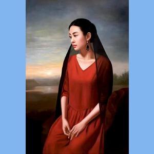 知名油画艺术家,福建省油画协会常务理事曾新伟(江山美人)2