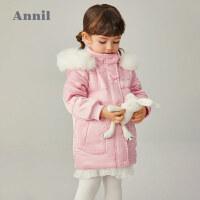 【2件4折�A估券后�r:189元】安奈�和��b女童中�L款棉衣2020冬新款