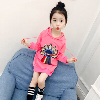 儿童卫衣春秋2018新款韩版女孩宝宝上衣连帽外套