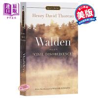 【中商原版】瓦尔登湖 英文原版 Signet Classics: Walden and Civil Disobedien