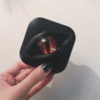 20180904205545008新款个性奶油胶隐形眼镜美瞳双联收纳盒便携男潮