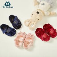 【每满299元减100元】迷你巴拉巴拉童鞋女宝宝鞋2019秋季新款婴儿手工舒适软底学步鞋