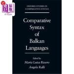 【中商海外直订】Comparative Syntax of the Balkan Languages