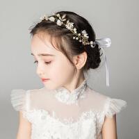 儿童礼服配饰发饰发箍花环花童头箍金色饰品女孩