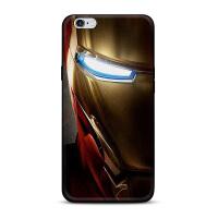 超人标志队长盾牌钢铁侠iphone7/8x苹果5se手机黑壳6splus保护套