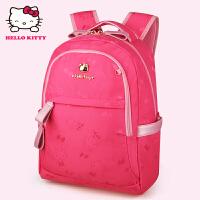 HelloKitty凯蒂猫 KT1136玫红 儿童书包 小学生书包 女童韩版3-6年级减负护脊书包