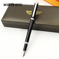 正品HERO英雄钢笔1051俊郎黑丽雅铱金笔明尖钢笔 墨水笔 学生练字
