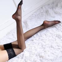 女士黑色蕾丝花边薄长筒袜性感丝袜情趣丝袜吊带袜诱惑 均码