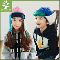 韩国KK树保暖护耳帽儿童帽子秋冬款男童女童加厚宝宝雷锋帽冬天潮