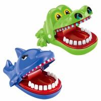 咬手指鲨鱼咬人鳄鱼狗牙齿恶搞整蛊创意玩具聚会玩具KTV游戏道具 鳄鱼+鲨鱼【无声版】