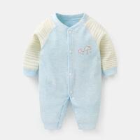 婴儿连体衣服长袖爬爬服男春秋新生儿女宝宝0幼儿3个月6哈衣