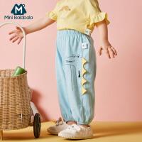 【周年庆 夏新品5折价:60】迷你巴拉巴拉婴儿全棉长裤2020春夏新款男宝宝恐龙造型长裤透气
