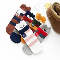 儿童袜子1男童女童全棉中筒袜子3宝宝春秋短袜子5学生保暖袜7-9岁