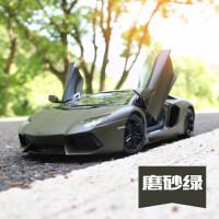 汽车模型合金1:18兰博基尼LP700跑车模型原厂仿真小汽车车模摆件送男生礼物收藏礼品 兰博基尼LP700-4(军绿)