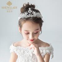 儿童皇冠头饰公主女童王冠水晶艾莎韩式水钻小孩生日发箍