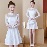 欧美女装暖暖年货节秋韩版长袖修身蕾丝T恤中长款裙摆打底衫女外穿加绒保暖上衣