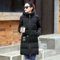冬季棉衣女中长款韩版女装加大加厚学生外套修身显瘦棉袄 M 建议90-103斤