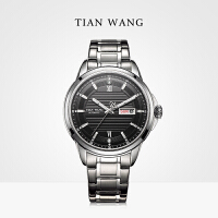 天王表男士手表机械表商务精钢复古品质手表情侣表5794