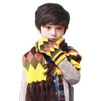新品韩国kK树儿童手套冬款彩色菱格针织宝宝手套小孩保暖连指手套