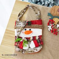 圣诞节装饰品儿童礼品礼物圣诞老人雪人鹿无纺布圣诞t2 雪人手提袋