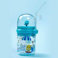 �L�~��水杯子�和�水杯��吸管抖音�W�t����小孩可�鬯�杯ins�L女