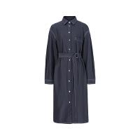 伊芙丽长袖中长款显瘦连衣裙