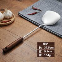 家用木柄不锈钢锅铲 勺套装粥勺漏勺厨具 防烫加厚炒菜铲子厨房