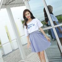 【新品特惠】抖音同款衣服时尚洋气仙女小个子穿搭女夏季学生裙子夏天两件套装 连衣裙