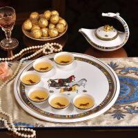咖啡杯套装欧式茶具咖啡具英式下午茶陶瓷杯具带托盘 8件