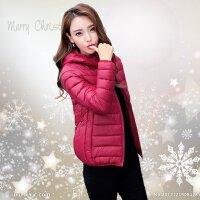 轻薄棉衣韩版女短款大码时尚修身百搭连帽冬装小棉袄